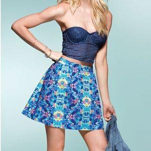 Victoria's Secret floral Full flare Miniskirt